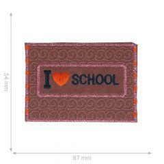 Applicatie Love school reflecterend 87x54mm - 5st