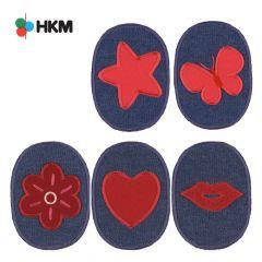 HKM Kniestukken kinderen jeans - 5st