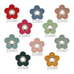 Nestels op skai-leer bloem 8mm - 50st - NI