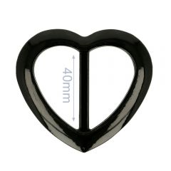 Siergesp kunststof hart 40mm - 6st