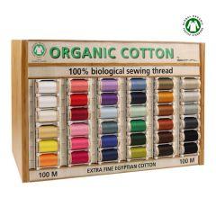 Scanfil Organic cotton display 5x100m - 36 kleuren - 1st