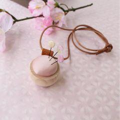 Cohana Sakura Ohajiki speldenkussen ketting roze - 1st