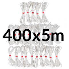 Directoire elastiek bundel 4mm wit - 25-400x5m