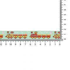Geweven band treinen 17mm - 24m