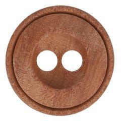 Knoop hout 2-gaats maat 28-44 17.50-27.50mm
