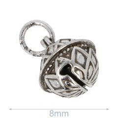 Sierbelletje 8-14mm zilver - 50st