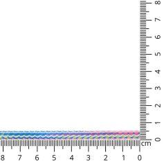Vierkant koord gemeleerd 5mm - 25m