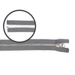 Metalen modische rits gestreept nr.5 40-70cm zwart-wit - 5st