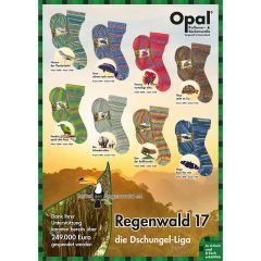 Opal Regenwald XVII assortiment 5x100g - 8 kleuren - 1st