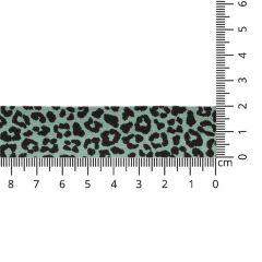 Oaki Doki Tricot biaisband luipaard print 20mm - 5x3m