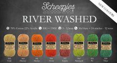 Scheepjes River Washed assortiment 5x50g - 8 kleuren - 1st
