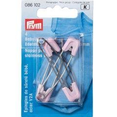 Prym Babyveiligheidsspeld roestvrij staal 55mm - 5x4st