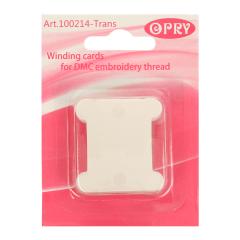 Opry Wikkelkaarten plastic transparant - 10x20st