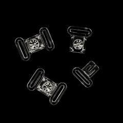 Bikinisluiting strass 12 mm - 10st - Tranpsarant