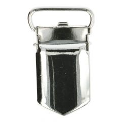 Bretelclips verchroomd extra sterk - Zilver