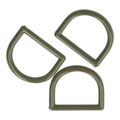 D-ringen 30mm Plastic - 50sts - Grijs