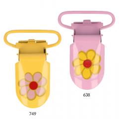 Bretelclip bloem 25mm - 12st