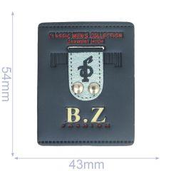 Label BZ fashion 43x54mm blauw - 5st