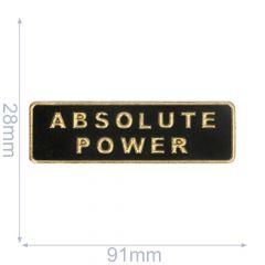 Label absolute power 91x28mm zwart-goud - 5st