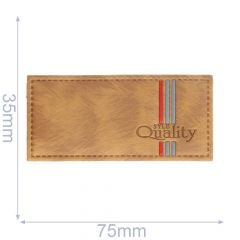Label syle quality 75x35mm bruin - 5st