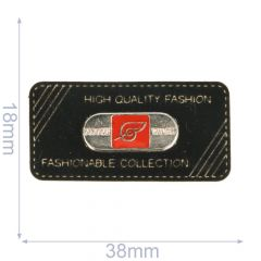 Label fashionable collection 38x18mm zwart - 5st