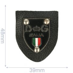 Label DG italia 39x48mm zwart - 5st