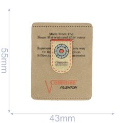 Label collection fashion 43x54mm bruin - 5st