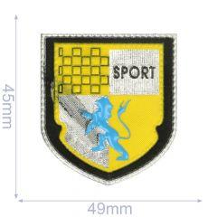 Label schild sport 49x45mm geel - 5st