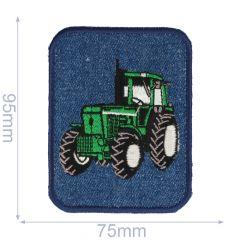 Applicatie Tractor groen jeans - 5st