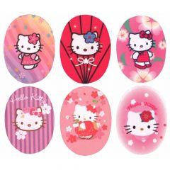 Applicatie Hello Kitty assortie - 6st