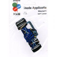 Applicatie Racewagen blauw - 5st