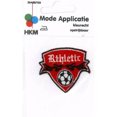 Applicatie Athletic met voetbal in schild - 5st
