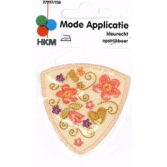 Applicatie Bloemen in schild - 5st