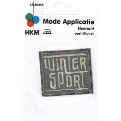 Applicatie Winter Sport grijs/zwart - 5st