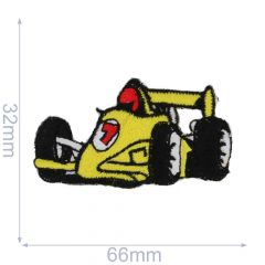 HKM Applicatie racewagen 66x32mm geel - 5st