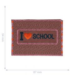 Applicatie Love school reflecterend 87x54mm - 5st