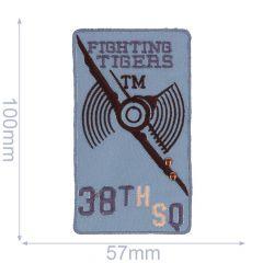 Applicatie Fighting Tigers lichtgrijs - 5st