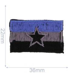 Applicatie Vlag met ster - 5st