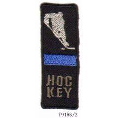 Applicatie Hockey met blauwe/rode balk - 5st