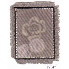 Applicatie Bloemmotief met franje - 5st