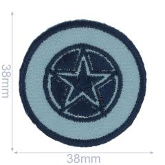 Applicatie Ster in blauwe cirkel - 5st