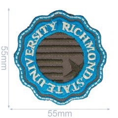 HKM Applicatie Richmond State University 55x55mm - 5st