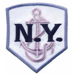 Applicatie N.Y. wit-lila - 5st