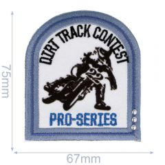 HKM Applicatie dirt track contest 67x75mm - 5st
