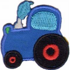 Applicatie Tractor blauw - 5st