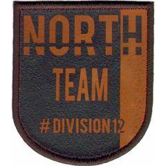 Applicatie North Team bruin/blauw - 5st