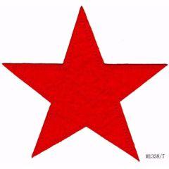Applicatie Ster rood (groot) - 5st