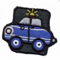 Applicatie Auto Politie blauw - 5st