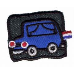 Applicatie Auto blauw op zwart achtergrond - 5st