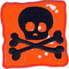 Applicatie Vlag met doodskop rood - 5st